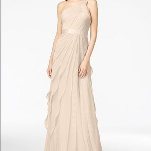 Adrianna Papell one shoulder tiered gown